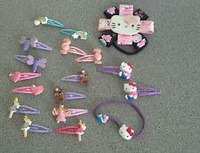 Girls Hello Kitty bobbles, slides & assorted Hair Clips bundle