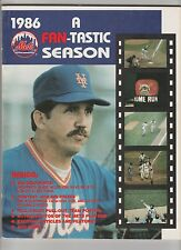 1986 NEW YORK METS  A FAN-TASTIC SEASON WORLD CHAMPIONS - EX/MT CONDITION