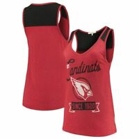 Junk Food Womens NFL Arizona Cardinals Sideline Tank Shirt New