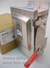 Siemens Stainless HNF261S 30 amp 600v NON-FUSED Safety Switch 17 Available NEW