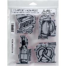 BEER BLUEPRINT - Tim Holtz Stampers Anonymous Cling Stamp Set - CMS334