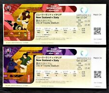 Rugby World Cup Japan 10/12/2019 Ticket stubs New Zealand vs Italy 2set-b