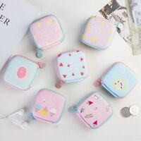 Cute Mini Square Bag Creative Headphone Storage Bag Fruit Coin Zipper Purse New