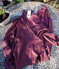 Aubergine Zara Satin Wrap Jumpsuit Limited Edition S Small 8 New