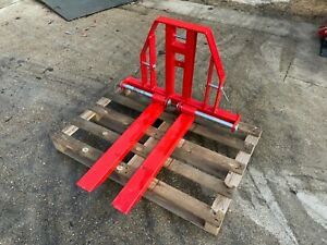B-JPF9 - Pallet Forks (750kg Capacity) - 3 Point Linkage - For Compact Tractors