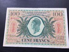 100 Frans CAISSE CENTRALE DE LA FRANCE D'OUTRE MER, GUYANE , Rare