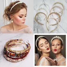 Fashion Women White Pearl Headband Hairband Hair Band Hoop Girl Hair Accessories