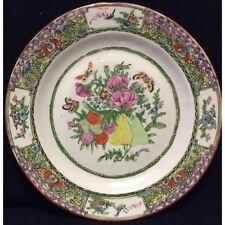 Chine plat ceramique porcelaine de Canton XIXe China 25,7 cm