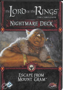 The Lord of the Rings The Card Game Escape From Mount Gram Nightmare Deck