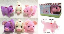 Walking, Moving, Oinking, Tail Wagging Plush Baby Mini Pig Piggy Random Color