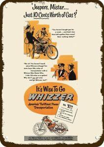 1948 WHIZZER MOTOR BIKE Vintage Look REPLICA METAL SIGN -NOT REAL BICYCLE MOTOR
