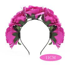 Pretty Girl Floral Crown Rose Flower Headband Hairband Hair Garland Headpiece AU