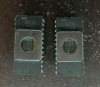 2X CPU IC NEC D2732 IC`S CHIP  VINTAGE CERAMIC CPU FOR GOLD SCRAP RECOVERY