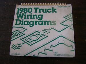OEM Ford 1980 Truck Wiring Diagram Book F100 Bronco Econoline Van Courier Manual