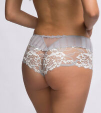 SIMONE PERELE AMOUR Shorty 18 Aust 5 Int'l Cloud Grey White Calais Lace Rp$75