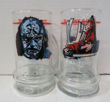 1984 Star Trek III Taco Bell glass cup Lot Of 2 Glasses Lord Kruge & Fal-Tor-Pan
