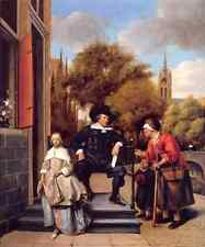 Metal Sign Jan Steen A Burgher Of Delft And His Daughter A4 12x8 Aluminium