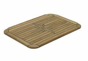 Teak Tischplatte rechteckig versch. Größen Bootstisch Boot Tisch Wohnmobil