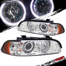 1997-2003 BMW E39 5-Series 528i/540i Chrome LED Halo Projector Headlights Pair