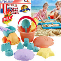 14 PCS Sand Castle Building Kit Kids Beach Model Bucket, Rake, Shovels Toys Set