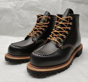 Red Wing 9878 Black Klondike Irish Setter Moc Toe 875 Heritage Boots Size 7.5 E