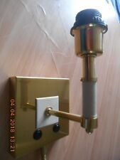 Chelsom brushed brass wall lamp (ZZ/11119/W1/LED(B)/SB). New & boxed
