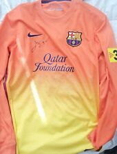 fc barcelona qatar foundation jersey 2012 2013 autographed lionel messi