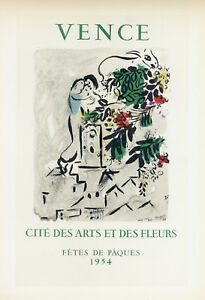 Marc Chagall lithograph poster (printed by Mourlot) 90890808