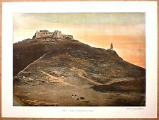 LE FORT DE SANTA CRUZ À ORAN Algérie - Photochromie fin 19ème Gravure