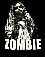 ROB ZOMBIE cd lgo NO F#CKS GIVEN EVER / MIDDLE FINGER Official SHIRT LRG new