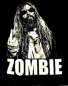 ROB ZOMBIE cd lgo NO F#CKS GIVEN EVER / MIDDLE FINGER Official SHIRT XL new