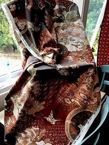 Jonelle  Fabric 'Ming' Bird 100% Cotton Fq 56x41cm Brown& Gold Design - Gorgeous