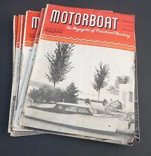 Vintage 1944 Motor Boat Magazine 10 issues lot Mar to Dec WWII era