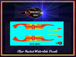 """1974 Hot Wheels Redline 'Heavy Chevy' Flying Colors """"Fantasy"""" Decal SCR-0891"""