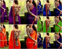 indian bollywood designer pakistani georgette saree fancy traditional ethinic BD