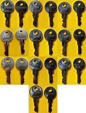 Pair of Posiflex Cash Drawer Keys for Point of Sale Pos Register, 8003 thru 8023