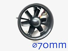 """1 Set ⌀70mm 2.75"""" Electric Fan Duct Unit with Motor for RC Models US Seller Ship"""