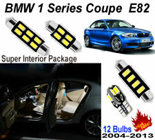 12pcs Super White LED Interior Light Package Kit For BMW 1 Series E82 Coupe Lamp
