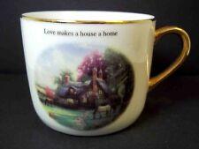 Thomas Kinkade fine china coffee mug  A Perfect Summer Day Teleflora 2003 10 oz