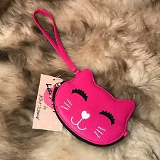 NWT Betsey Johnson Kitty Cat Coin Purse Wristlet - MSRP $24.00 - Cute!