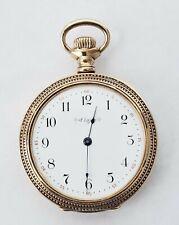 Watch Gold Filed Runs #46-4 Antique 6S Elgin Open Face Pocket