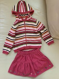 Gymboree Vintage Pick of The Patch toddler girl outfit  skirt cardigan size 2T
