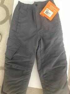New Athletech Kids Ski Snow Pants Water Resistant Gray  M 8 Outgrow