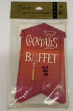 Vintage Gibson Invitations Cocktails Buffet Includes 8 invitations NOS