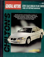 Chiltons General Motors 1985 thru 1995 Achieva Calais Grand Am Skylark Somerset