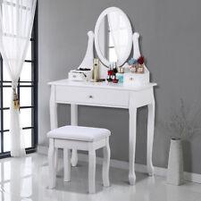 Schminktisch mit Spiegel&Hocker Schminkkommode Kosmetiktisch Weiß 173cm Hocker