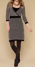 BNWT 🌹Monsoon 🌹Size Small Sadie Knitted Dress Tunic Kasuri Black White 10 New