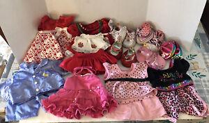Build A Bear Wrkshop Clothes Shoes Dress Valentine Christmas Misc 20 pc Girl Lot