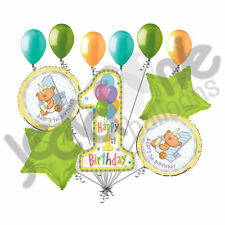 11 pc 1st First Happy Birthday Bear Balloon Bouquet Party Decoration Baby Boy