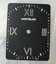 GENUINE MONTBLANC PROFILE MEN'S WATCH DIAL BLACK with SILVER ROMAN NUMERAL NEW
